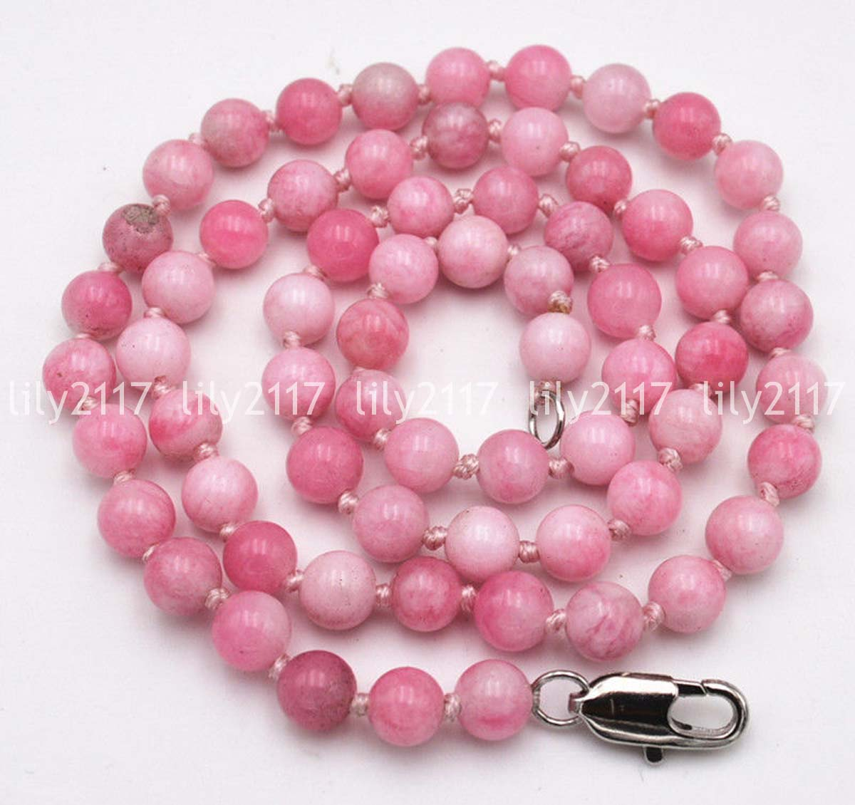 Beautiful Natural 6-14mm Blue Jade Round Gemstone Beads Necklace 18/'/' AAA