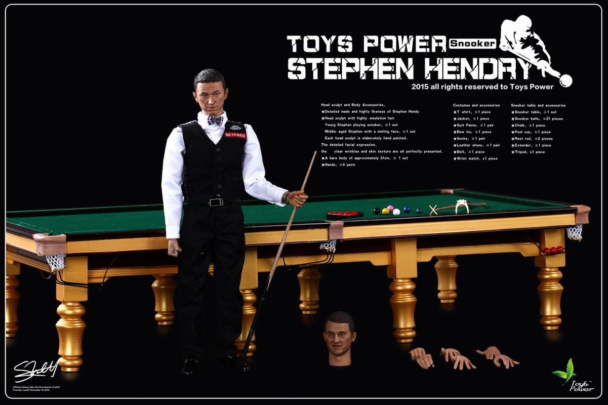 Toys Power CT008 1/6 Scale Snooker Ch&ion Stephen Hendry u0026 Snooker Table Set  sc 1 st  eBay & Toys Power CT008 1/6 Scale Snooker Champion Stephen Hendry u0026 Snooker ...