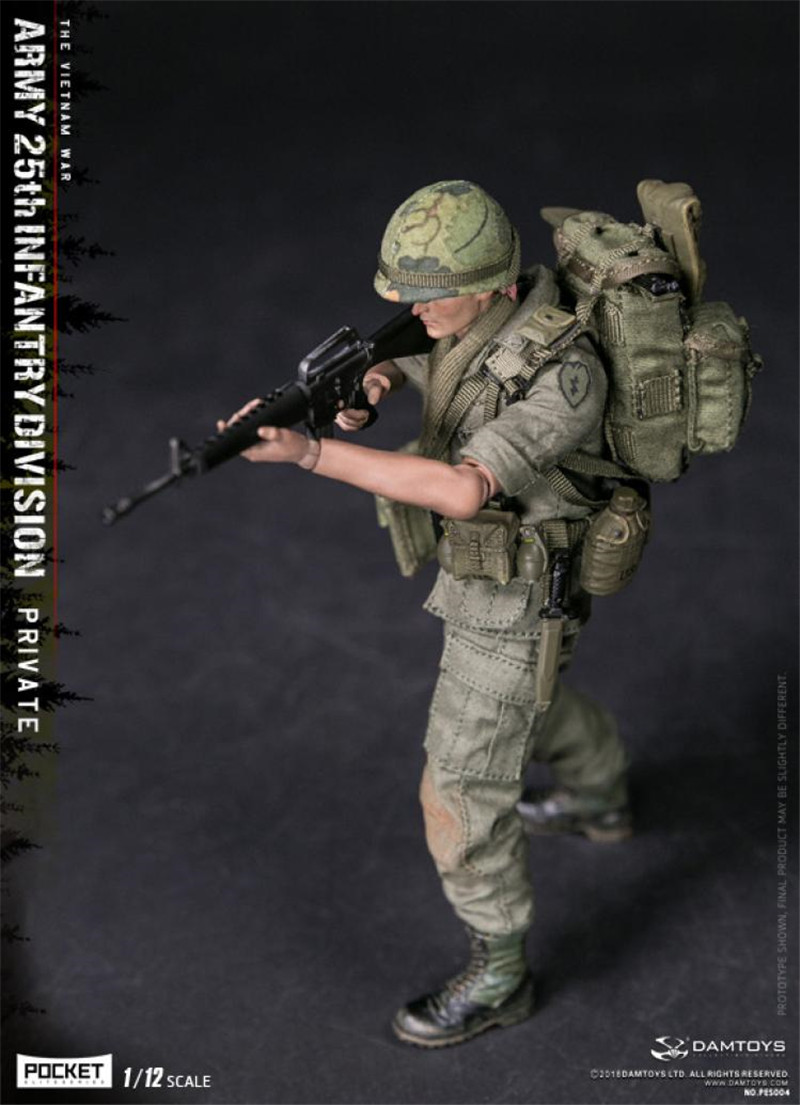 DAMTOYS 1//12 PES004 Recruits of the 25 Infantry Division of the U.S Army