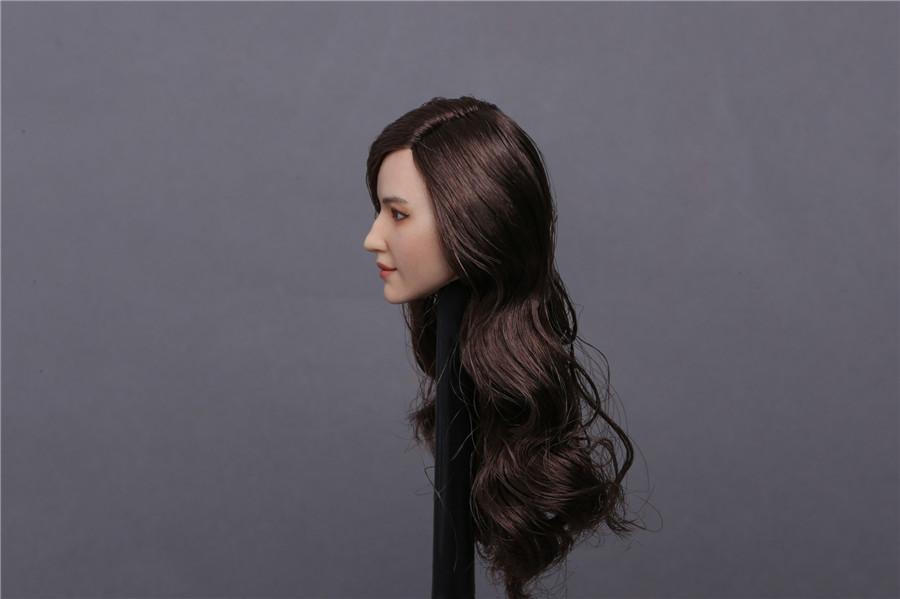 "GACTOYS GC015B 1//6 Liu Yifei Crystal Liu Black Hair Head Sculpt F 12/"" Figure"