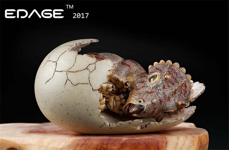 EDAGE Jurassic triceratops Dinosaur egg baby Resin model toy in stock