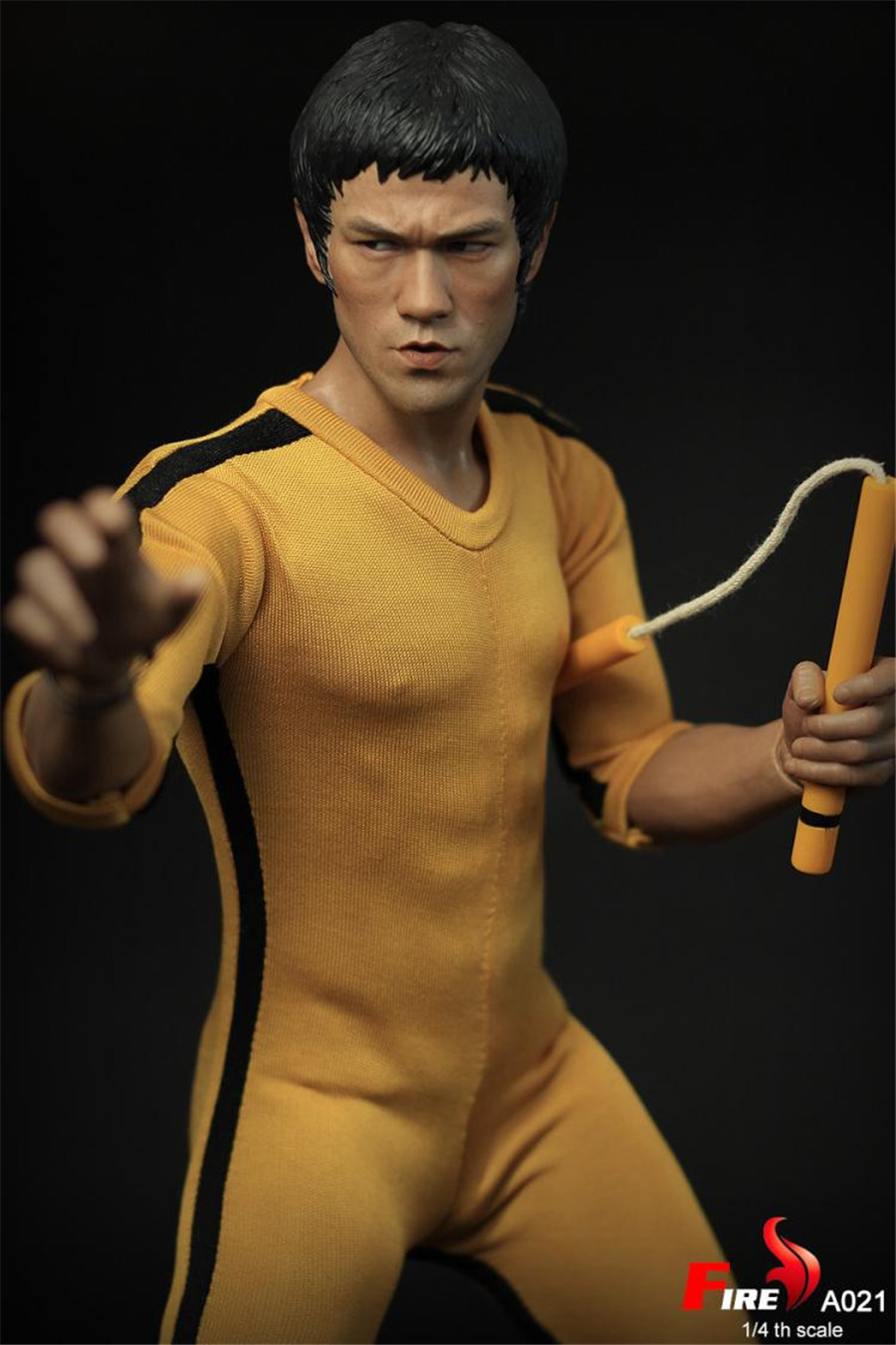 HOT FIRE A021 1//4 Game of Death Bruce Lee with two headplay suit in stock
