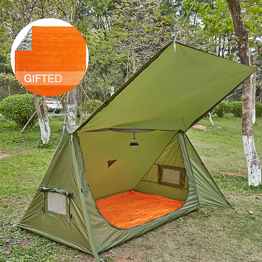 Details about OneTigris 4 Season Survival Tent Single Ultralight Shelter for Camping & Hiking
