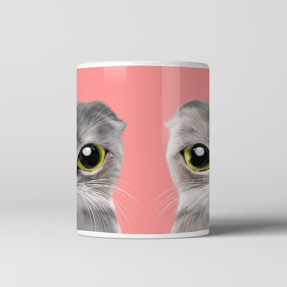 Lovely Cat Face Animal Pattern Pet Lover Coffee Mug Tea