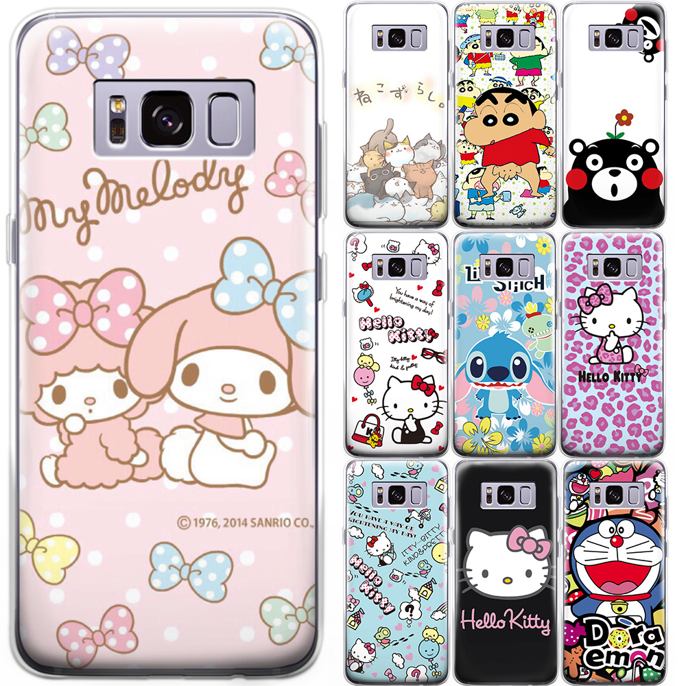 Cartoon Stitch Hello Kitty Pattern Phone Case Cover For