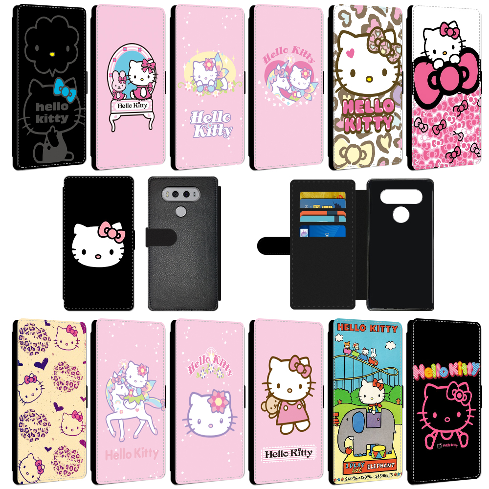 e59608cb2 Details about Wallet Phone Case For LG HUAWEI Cute Cartoon Hello Kitty PU  Leather Flip Cover
