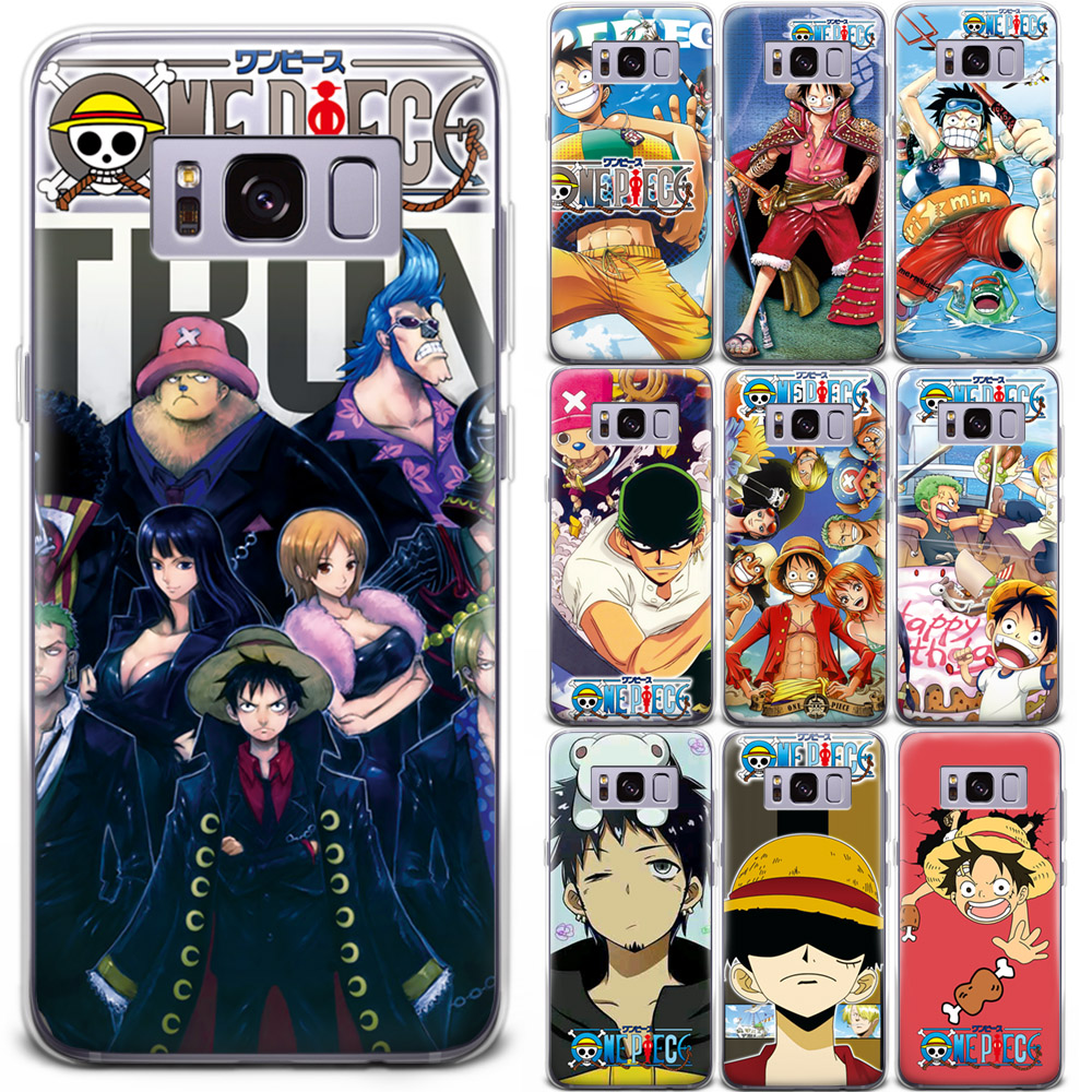 new arrivals c121c 64a11 Details about Anime Luffy ONE PIECE Cartoon Pattern Phone Case Cover For  Samsung Galaxy Series
