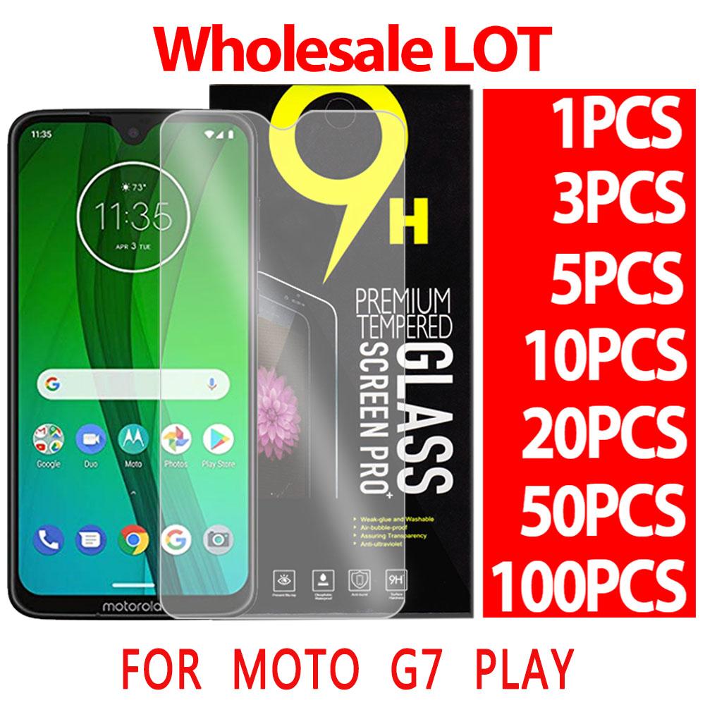 JIANGNIUS Screen Protectors 25 PCS 9H 5D Full Glue Full Screen Tempered Glass Film for Motorola Moto G7 Play