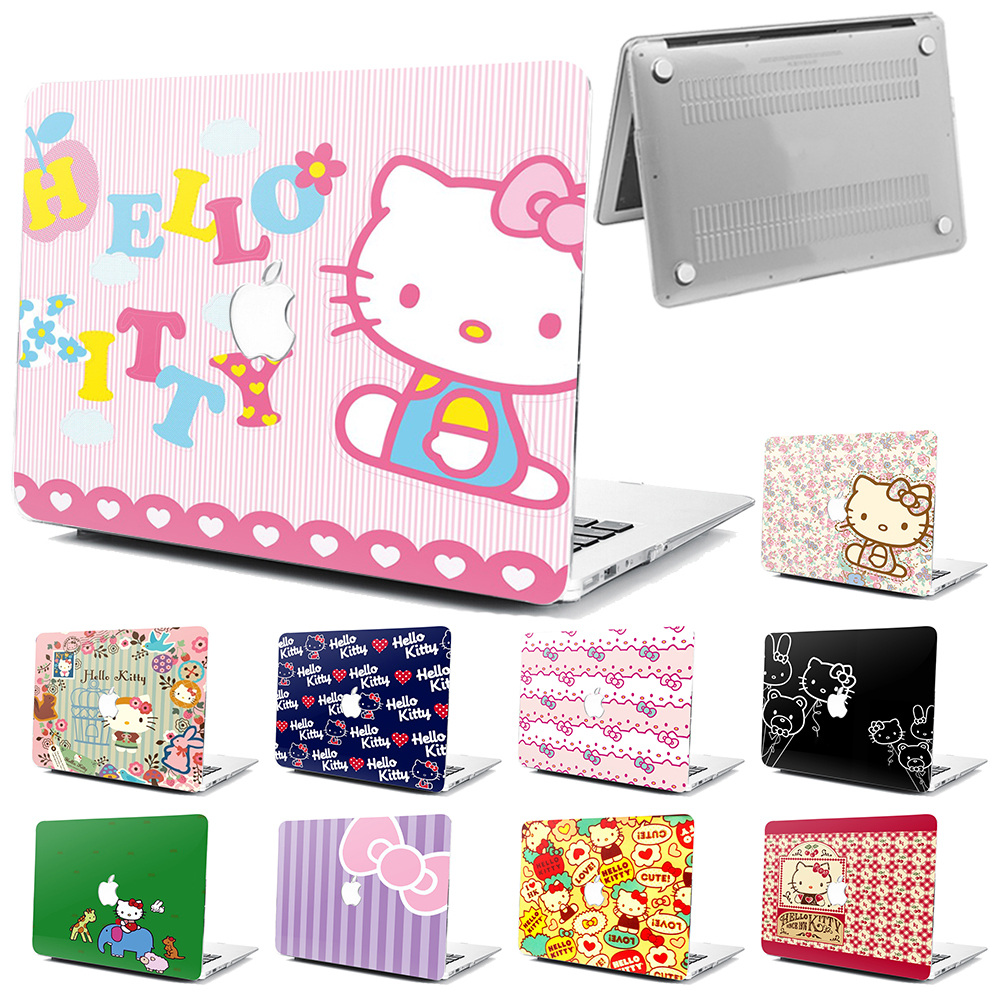 "Love Hello Kitty Hard Rubberized Case Cover Fr Apple Macbook Pro Air 11/"" 12/"" 13/"""
