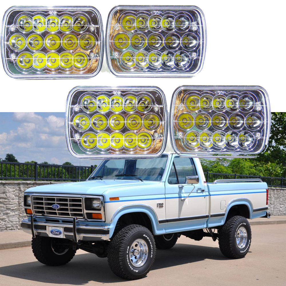 1978 1986 ford f150 f350 gmc g3500 k2500 led sealed beam headlight replace hid