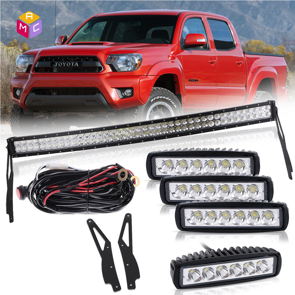 42 led light bar curvedroof mount bracketwire6driving lamp 42 led light bar curvedroof mount bracketwire6driving lamp toyota tacoma mozeypictures Images