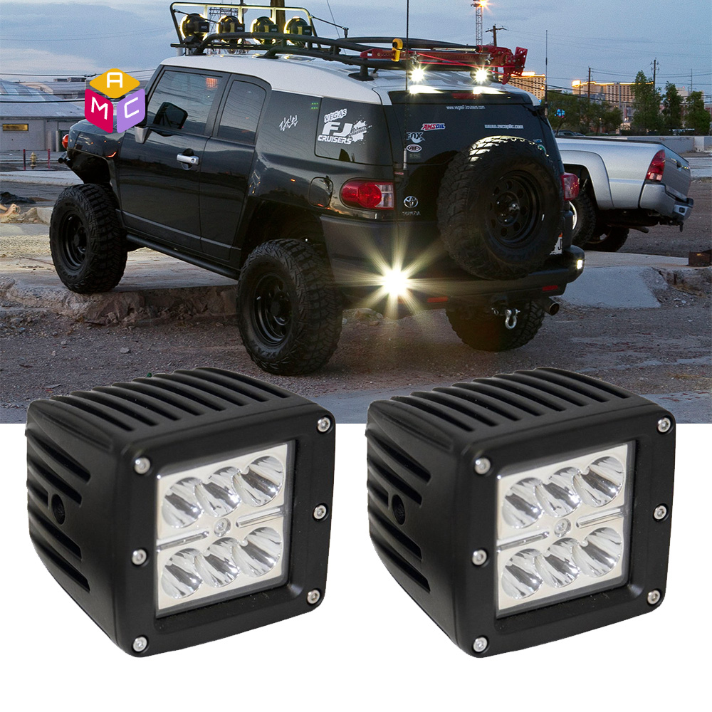 Dually 2 Flush Mount LED Pod Spot Fog Lights Fit Truck Jeep OffRoad