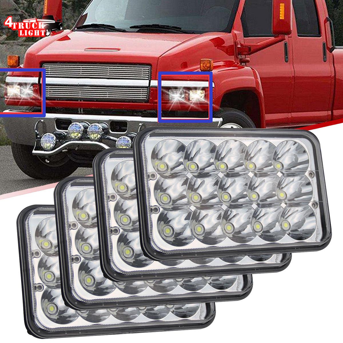 4x6 LED Headlights Upgrade For Chevrolet Kodiak C4500 and C5500 2003-2009 Models