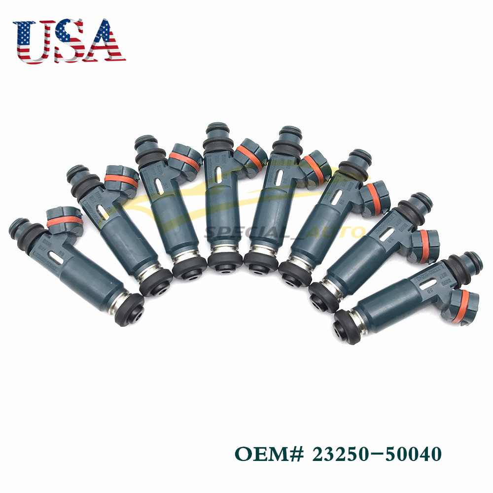 8x Multi Hole Nozzle Fuel Injector For Toyota Lexus 4.7 V8 23250-50040