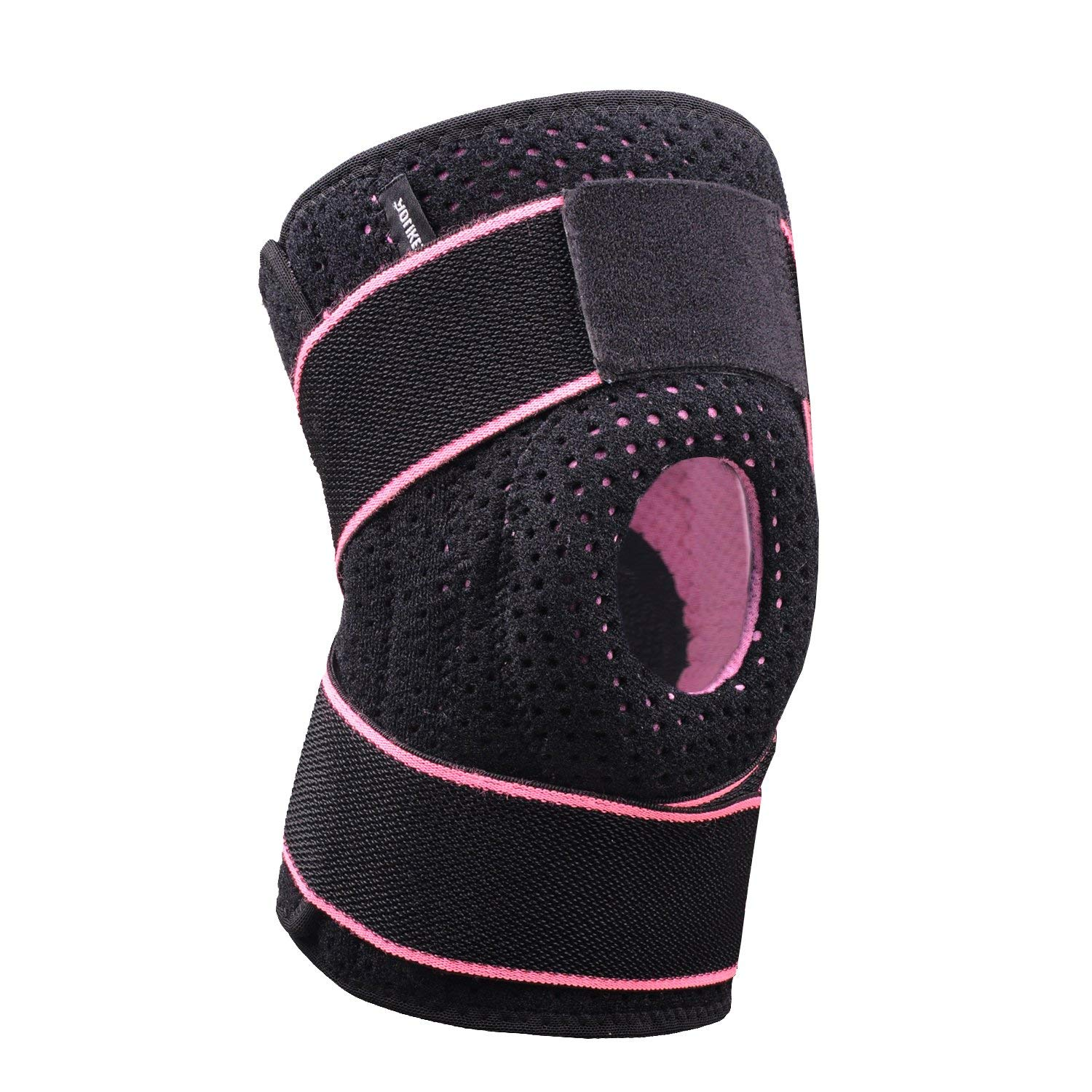 bc37bf4ba1 Details about Knee Brace Support Open Patella Meniscus Tear ACL Tendonitis  Running Football