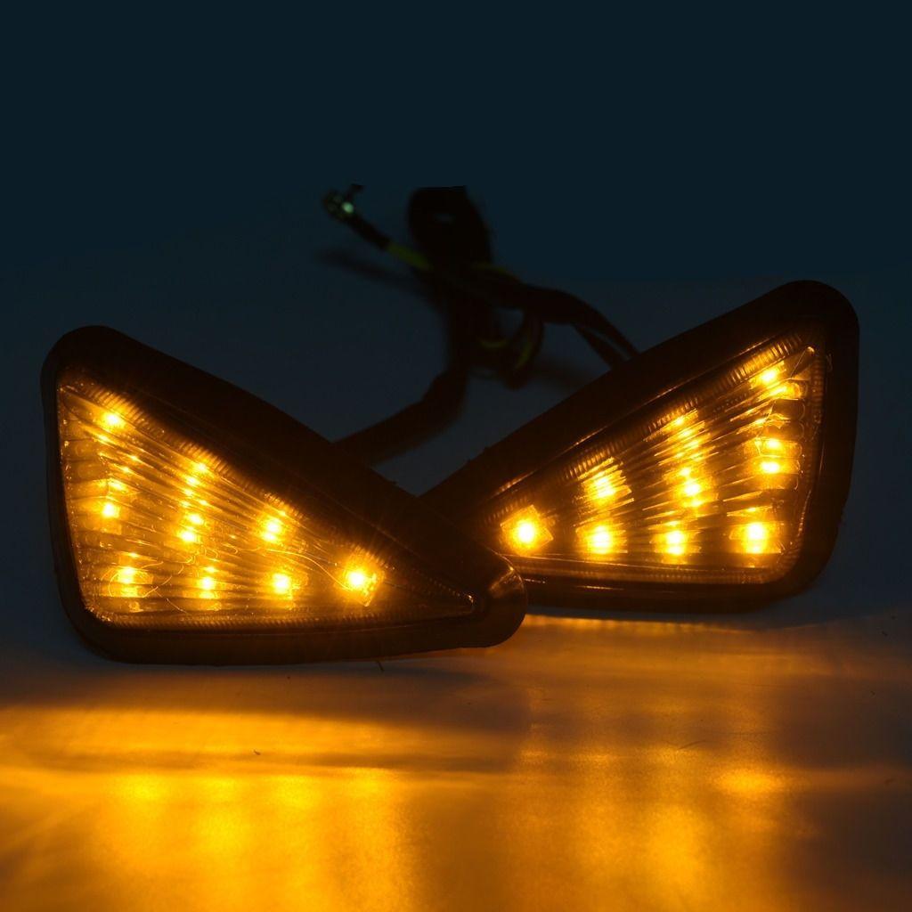 4x 2000-2008 Suzuki Flush Mount 18 LED Motorcycle Turn Signal Amber Lights