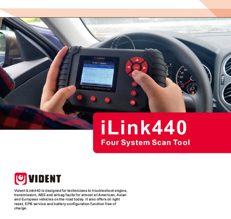 Details about VIDENT ILINK440 Eng EPB ABS AT Transmission Airbag Reset Tool  Diagnostic Scanner