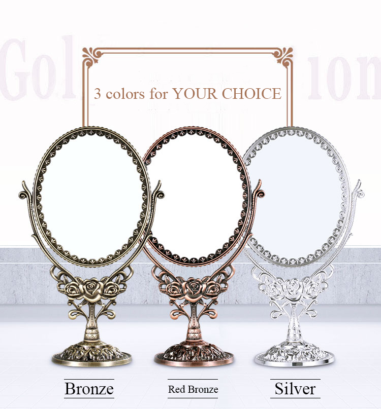 3x Magnifying Counter Makeup Mirror Stand Cosmetic Oval
