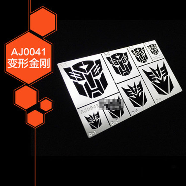 Details about Universal All Sizes Transformer Logo Metal Airbrush Stencil  Template Paint Mask