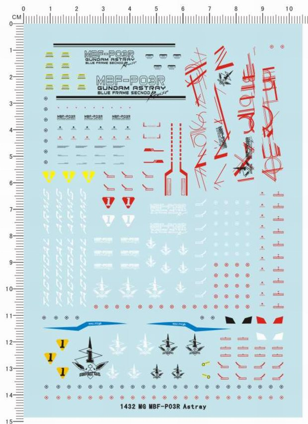 1//100 MG Astray Blue Frame Second Revise gundam Model Kit Water Decal