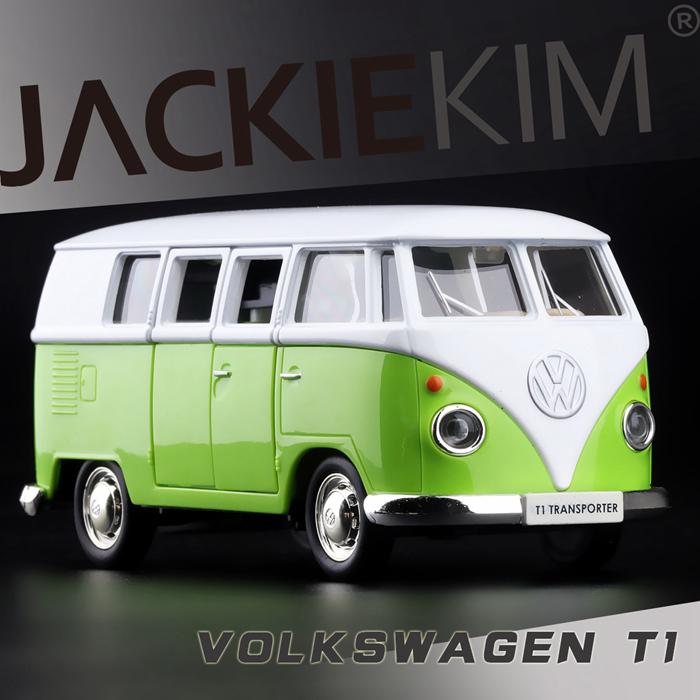 Green 1/43 Volkswagen VW 1962 T1 Transporter Van Samba