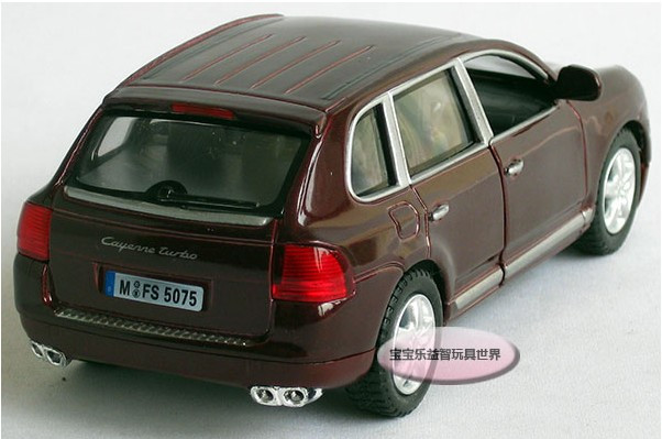 1:38 Black mini PORSCHE Cayenne Turbo alloy Die Cast model Pull Back Car DC