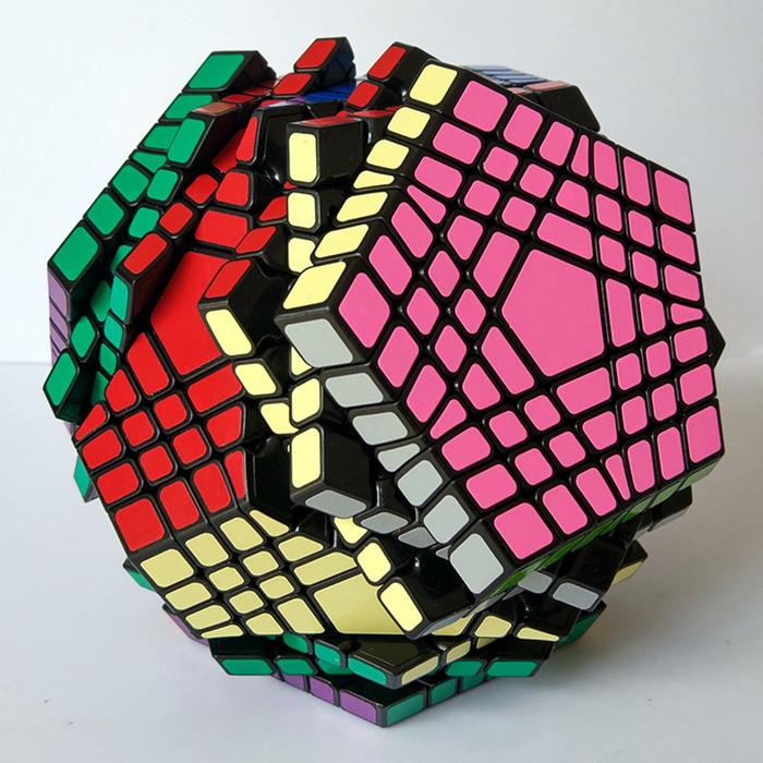 Black Shengshou 12 Sided Megaminx Maigc Cube Twist Puzzle For Speed Cubing