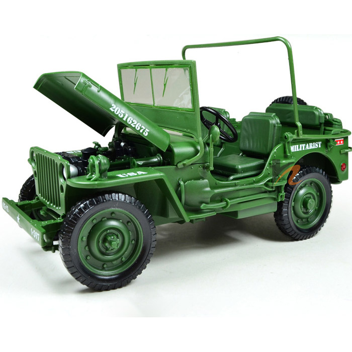 Military Vehicles For Sale >> Details About 1 18 Jeep Willys Us Army 1 4 Truck Camoflage Diecast Model Military Vehicles Kdw