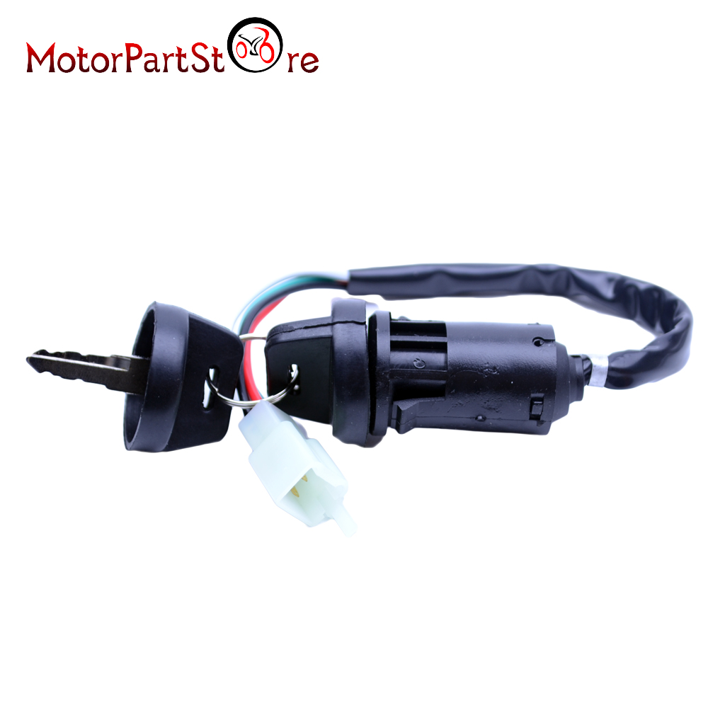 Chinese Atv Quad 4 Wire Ignition Key Switch For 49cc