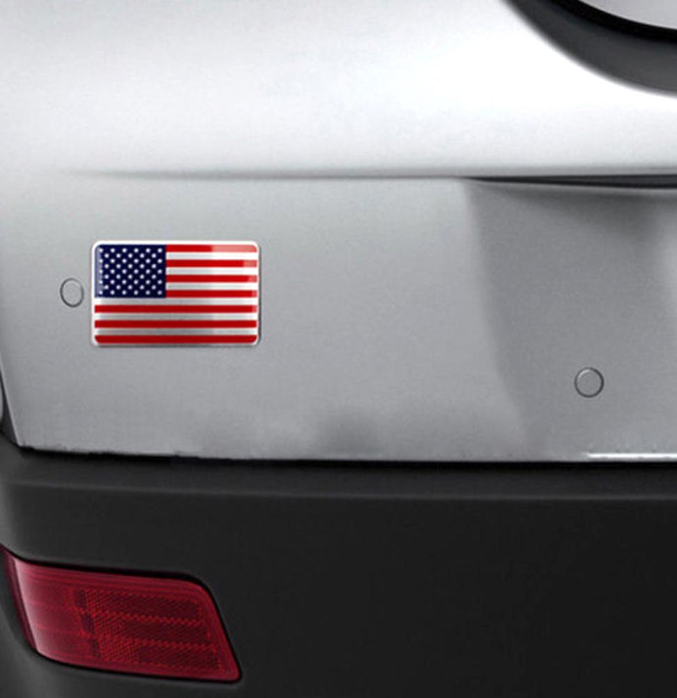 US American Flag 3D Car Sticker Auto Decal Badge Emblem Adhesive Aluminium YNS