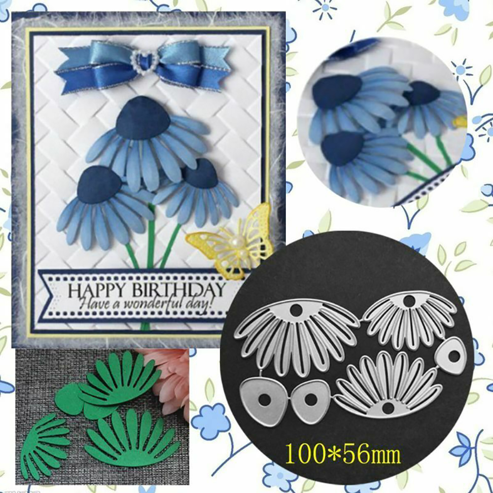 Flowers Cutting Dies Stencil Scrapbooking Album Paper Card Embossing Craft New