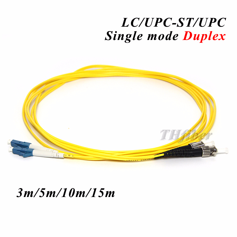 Details about 9/125,3-15M LC/UPC-ST/UPC fiber patch cord jumper cable,  Single Mode SM , duplex