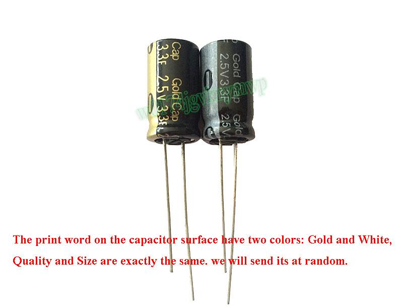 5pcs 2.5V 3.3F Winding Type Farad Super Gold Cap Capacitor Für Japan Panasonic