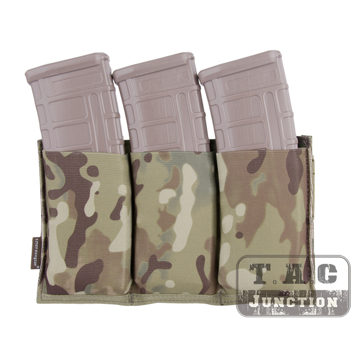 Details about Emerson Tactical Fast Draw MOLLE Triple Open Top 5 56  Magazine Mag Pouch Holster