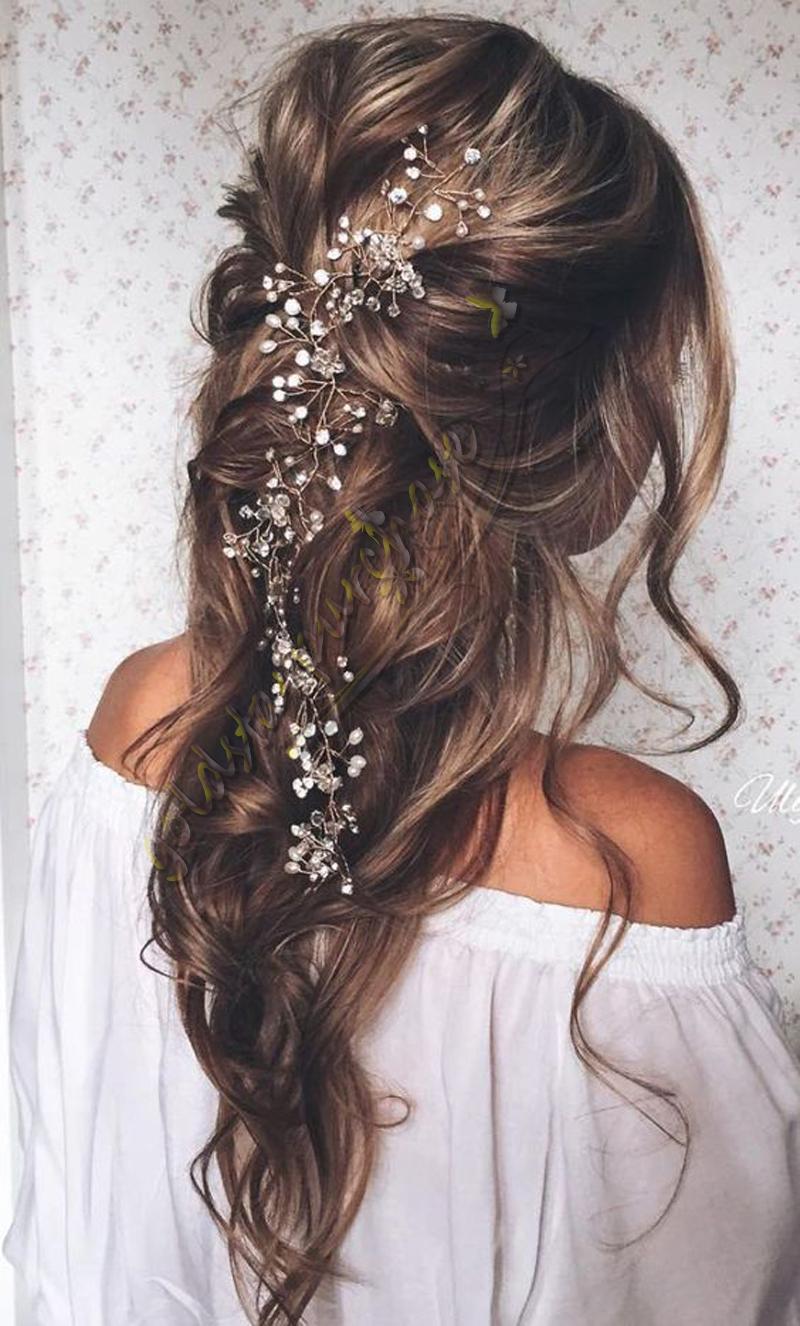 uk wedding hair accessories pearl bridal hair vine chain piece
