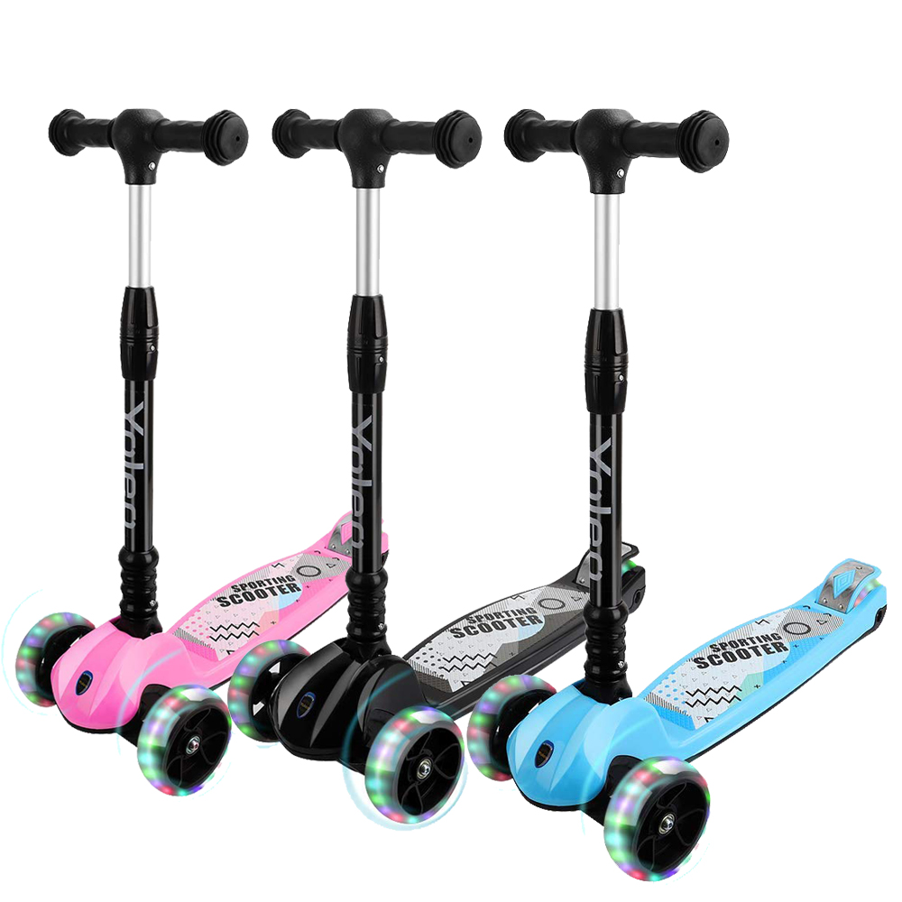 Y200 S SKIDEE Scooter for Kids with Foldable and Removable Seat USA Brand 3 Wheels Kick Scooter for Girls /& Boys 2-12 Years Old 3 LED Light Wheels Adjustable Height
