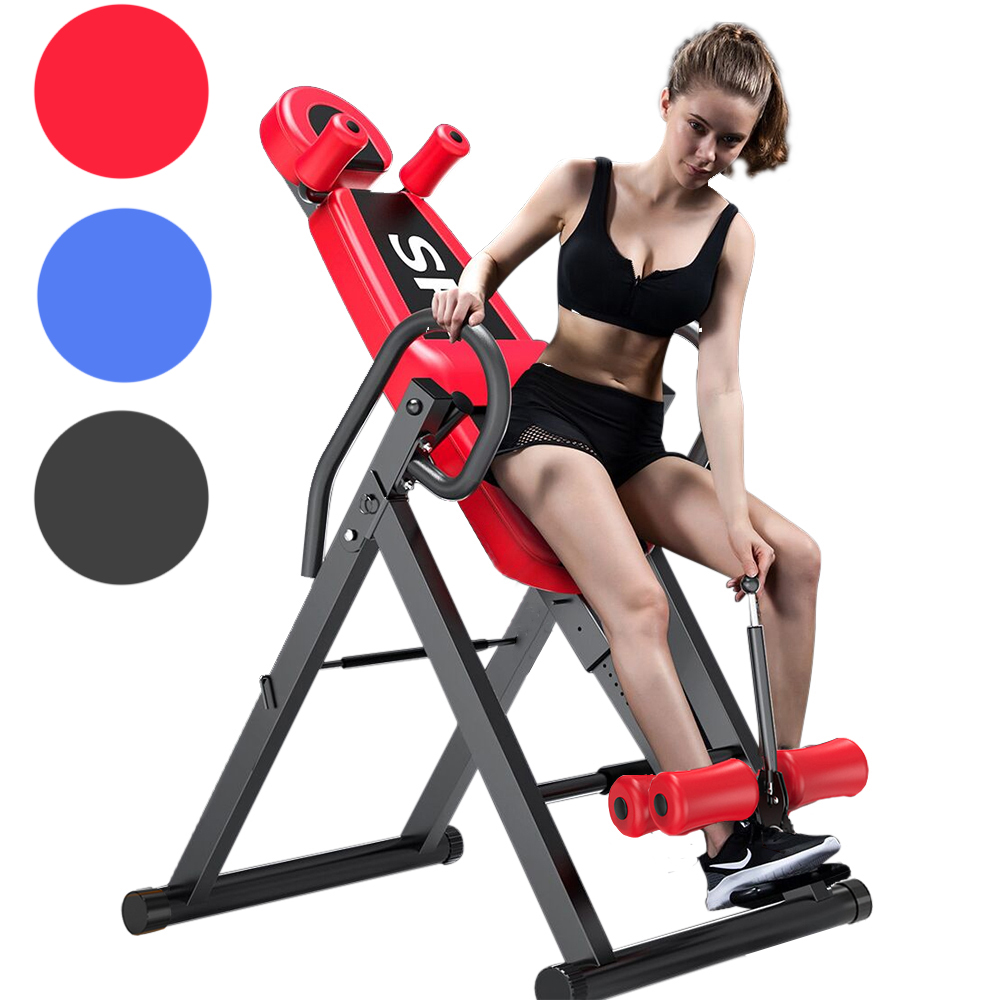 Gravity Inversion Table Fitness Back Pain Relief Exercise Heavy Duty High Weight