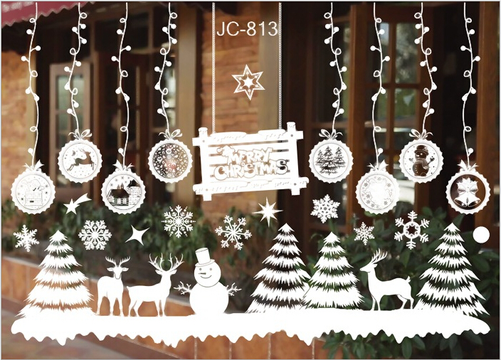 Christmas Xmas Santa Removable Window Stickers Art Decal Wall Home - Window stickers for home uk
