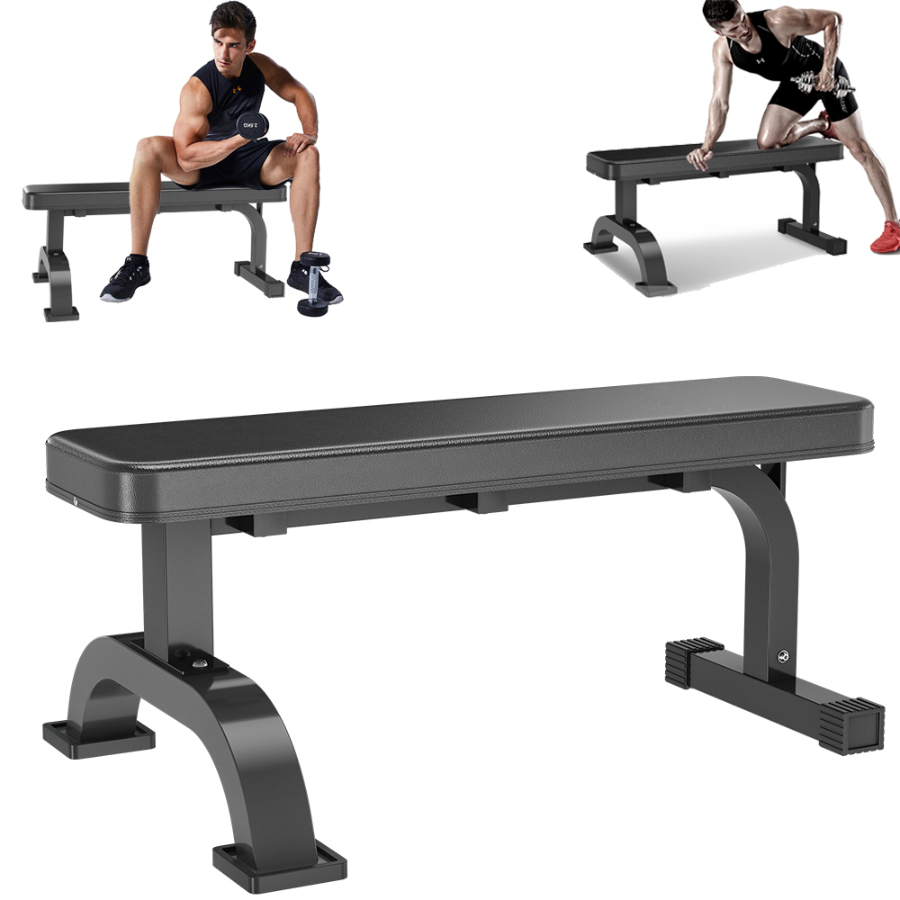 Cap Flat Weight Strength Bench Home Workout Gym Barbell Lifting Dumbbells Abs