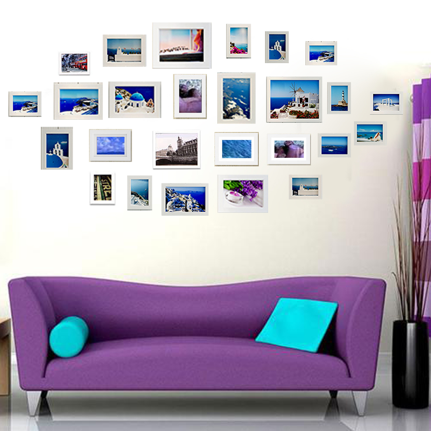 Set of 11/26 Multi Size Photo Picture Frame Set Home Décor Collage ...