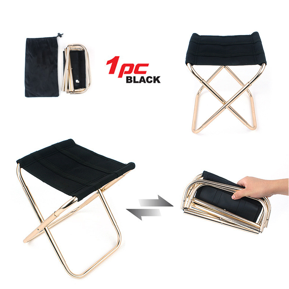 Details About Portable Folding Chair Stool Fishing Camping Hiking Picnic Lightweight Outdoor X