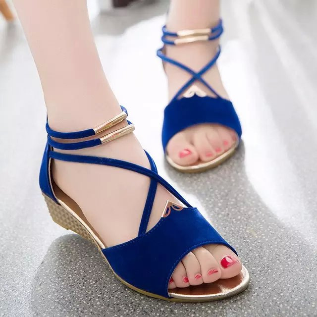 New Women Summer Leisure Beach Sandals Peep Toe Shoes Casual Flat SOCOFY US5-11