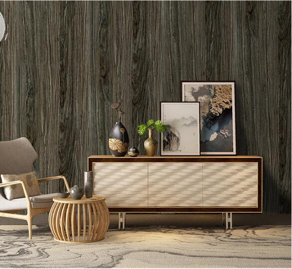 Details About Rustic Wood Plank Wallpaper Peel Stick Furniture Wall Stickers Bedroom Retro