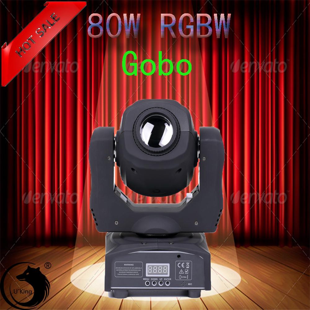 U`King Bühnenlicht 70W Gobo Spot Moving Head LED RGBW DMX512 Party DJ Disco Show