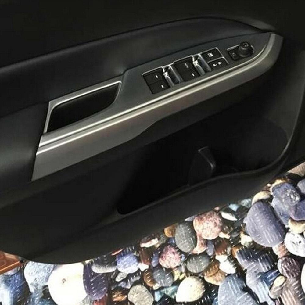 Chrome Interior Window Lifter Switch Cover For Suzuki Vitara Escudo 2016-2018