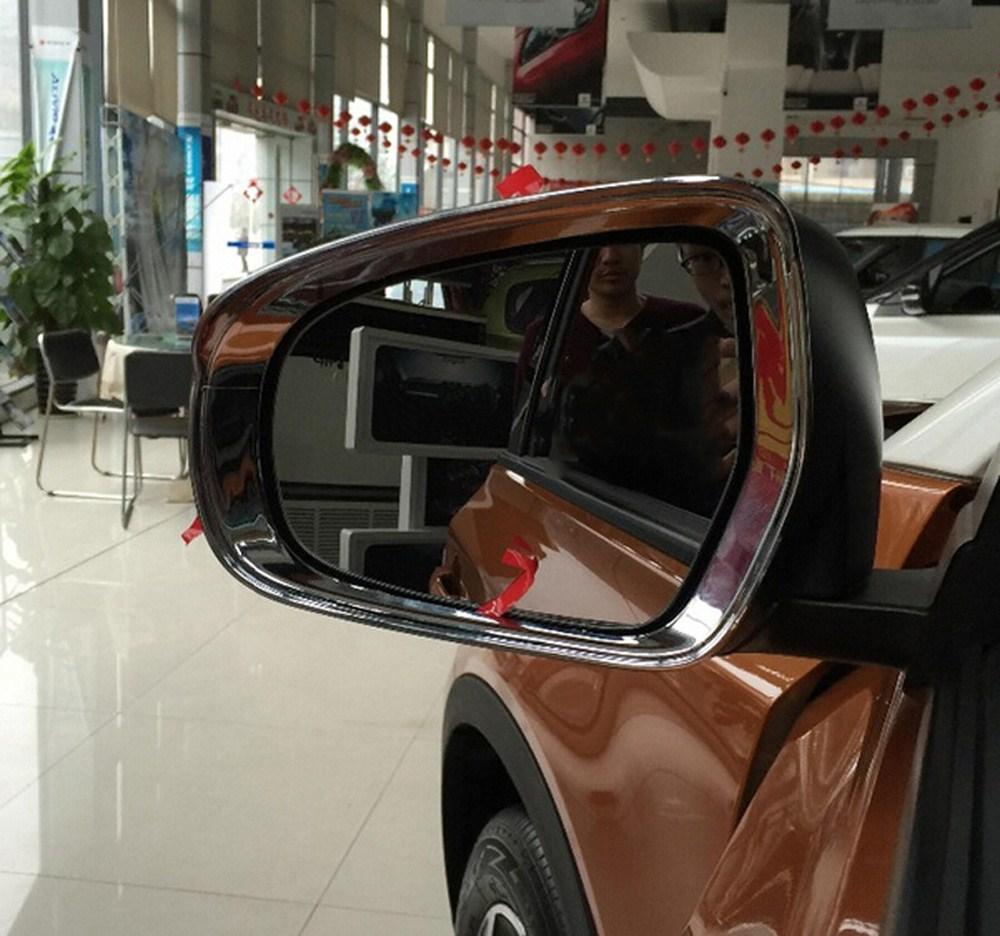 Chrome Side Rear View Mirror Wing Visor Cover For Suzuki Vitara Escudo 2015 2016