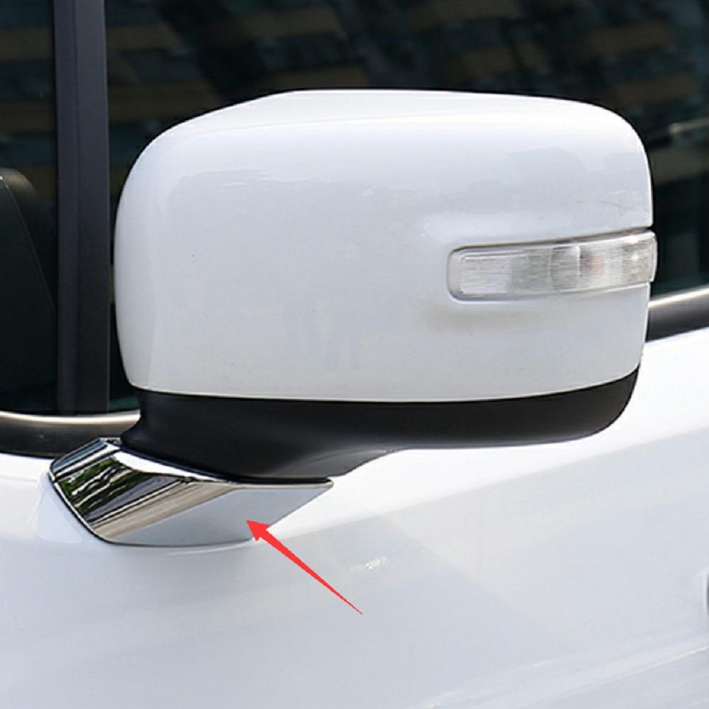 New Chrome Door Mirror Pillar Trim For Jeep Renegade 2015 2016 2017