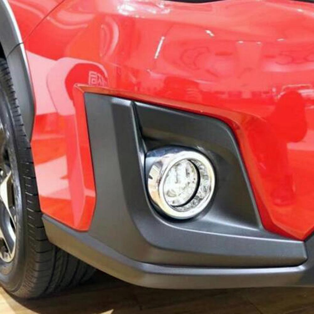 Mirror Rear Fog Light Frame Overlay Chrome Trims For 2018 Subaru Crosstrek XV