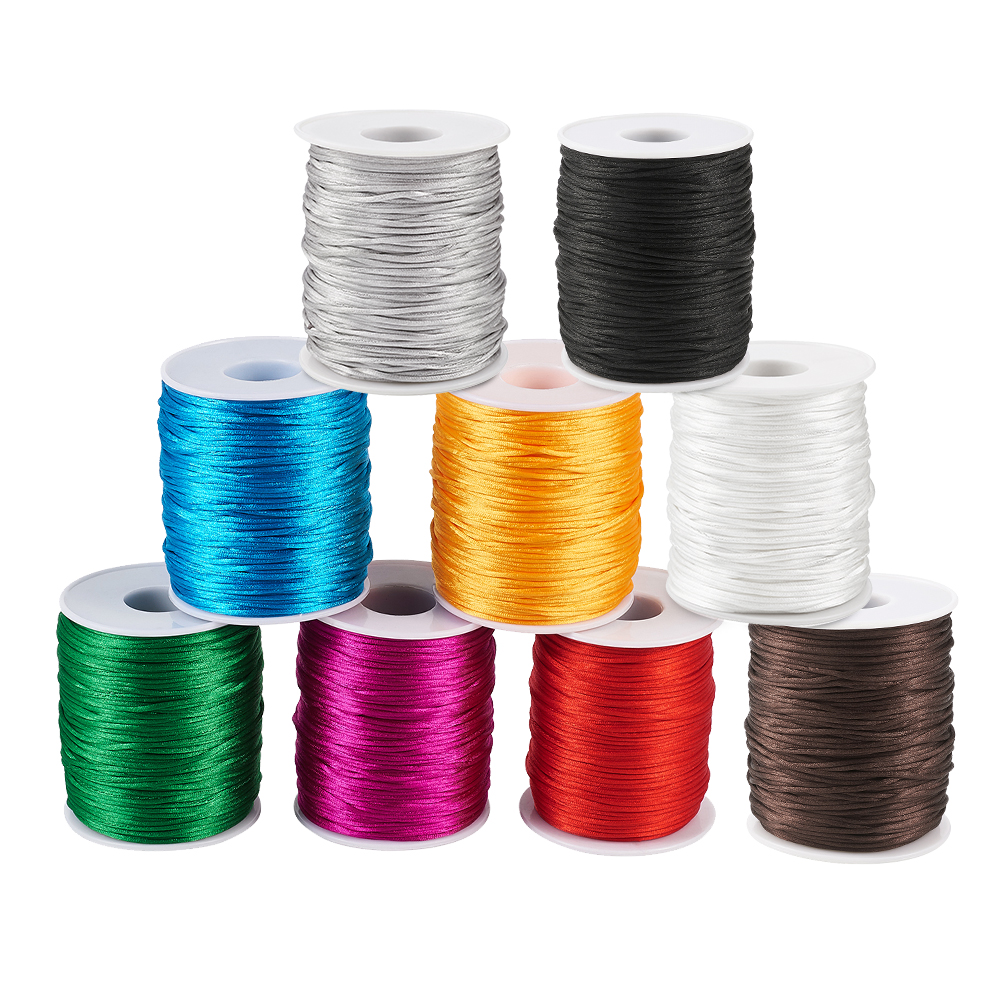 10 Rolls Random Elastic Cords Round Thin Stretchy Threads Rope Trimmings 1mm