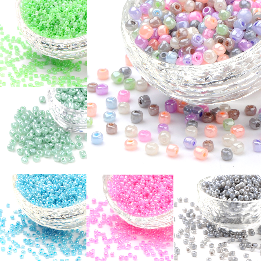 1 Pound Silver Lined Czech Glass Beads 12//0 8//0 6//0 Round Tiny Beads 2mm 3mm 4mm